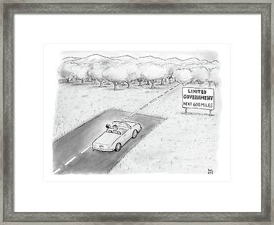 Limited Government Framed Print