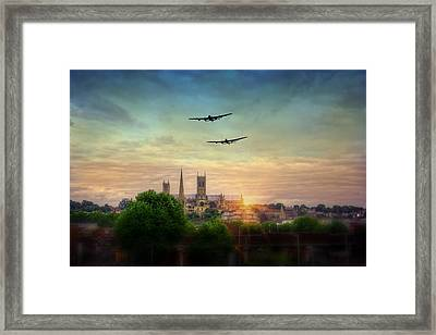 Lincoln Lancaster Flyby Framed Print by Jason Green