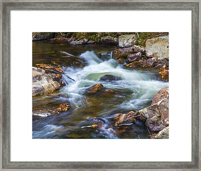 Framed Print featuring the photograph  Linville Falls  by Patricia Schaefer