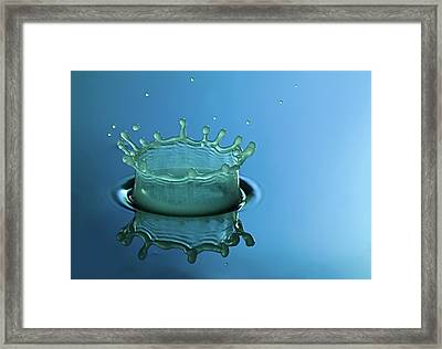 Liquid Crown Framed Print