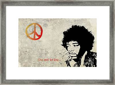 ... Live And Let Live ...  Framed Print by Andrea Kollo
