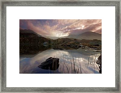 Llyn Ogwen Sunset Framed Print