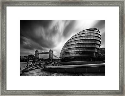 London City Hall And Tower Bridge.  Framed Print by Ian Hufton