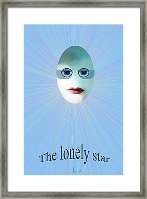 Lonely Star - 963 Framed Print by Irmgard Schoendorf Welch
