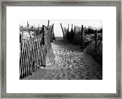Long Beach Island Nj 1977 - Black/white Framed Print by Jacqueline M Lewis