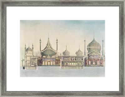 Longitudinal Section Organ Framed Print by John Nash