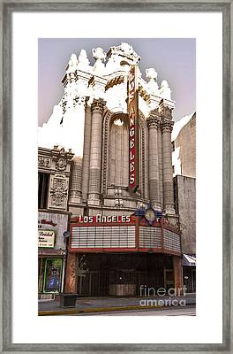 Los Angeles Theater Framed Print by Gregory Dyer