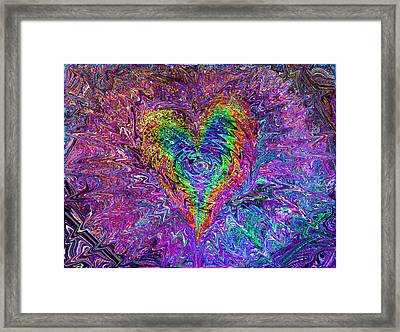 Love From The Ripple Of Thought  V 5  Framed Print