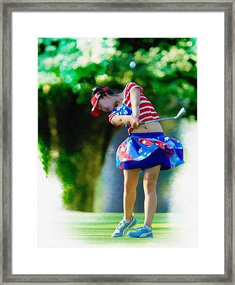 Lucy Li - The 69th U S  Women's Open  Framed Print by Don Kuing