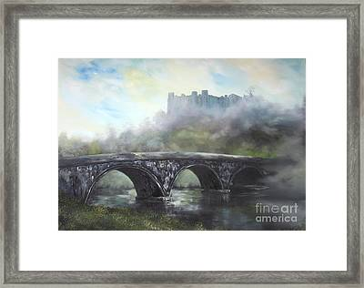Ludlow Castle In A Mist Framed Print