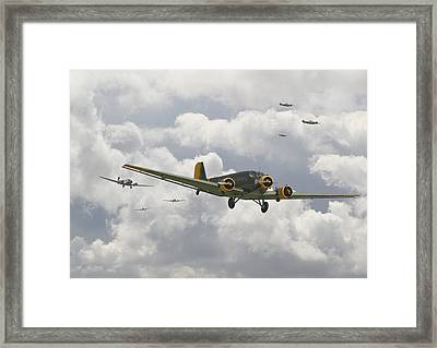 Luftwaffe Ju52  - Stalingrad Framed Print by Pat Speirs
