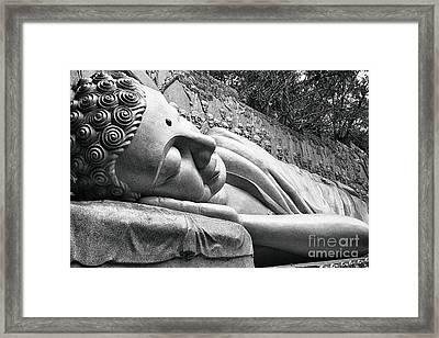 Lying Buddha Framed Print by Christos Koudellaris