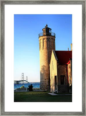Mackinac Old Lighthouse. Framed Print