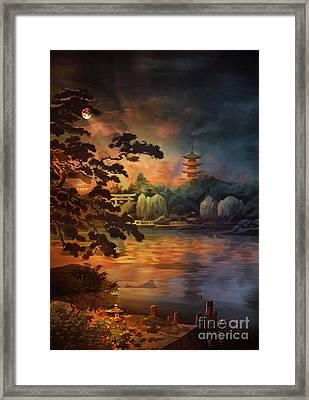 Magic Of Japanese Gardens. Framed Print by Andrzej Szczerski