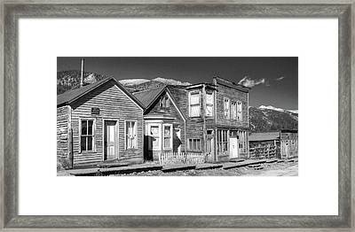 Main Street St Elmo Colorado Framed Print