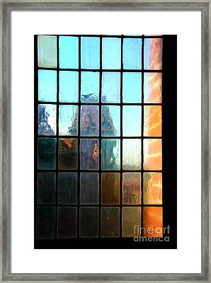 Framed Print featuring the photograph  Malbork Castle Poland - Meditation by Jacqueline M Lewis
