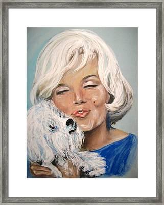 Marilyn And Maf Framed Print by Martha Suhocke