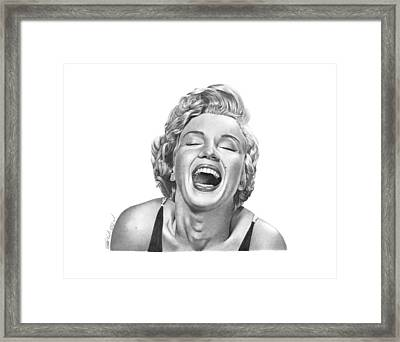 Marilyn Monroe - 034 Framed Print by Abbey Noelle
