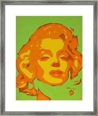 Marilyn Monroe  Framed Print by Dennis Nadeau
