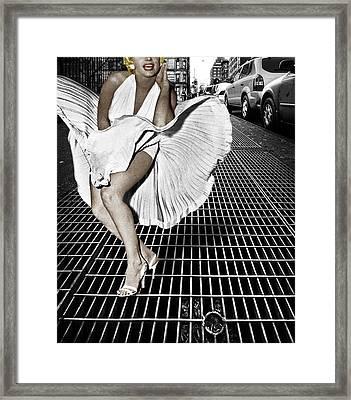 Marilyn Monroe In New York City Framed Print by Tony Rubino