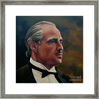 Marlon Brando Framed Print by Paul Meijering