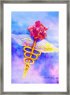 Medical Angel  Framed Print by Estela Robles