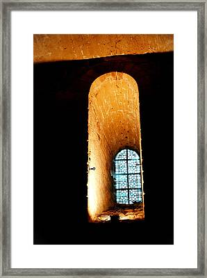 Framed Print featuring the photograph  Meditation - Deep Window Mont St Michel by Jacqueline M Lewis