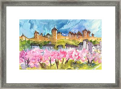 Memory Of Carcassonne Framed Print by Miki De Goodaboom