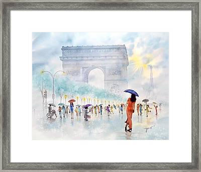 Memory Of Paris France Framed Print