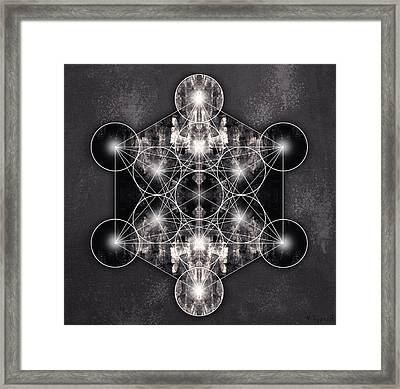 Metatron's Cube Framed Print
