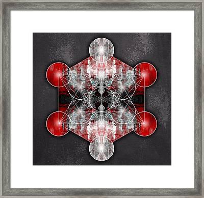 Metatron's Cube Red Framed Print