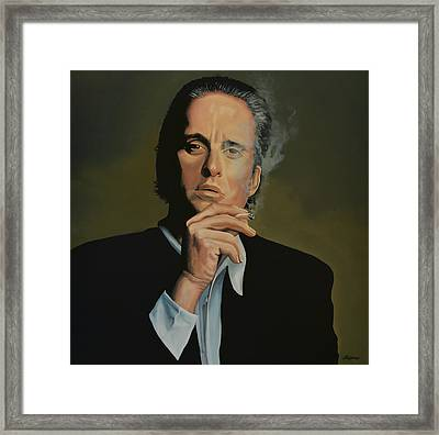 Michael Douglas Framed Print by Paul Meijering