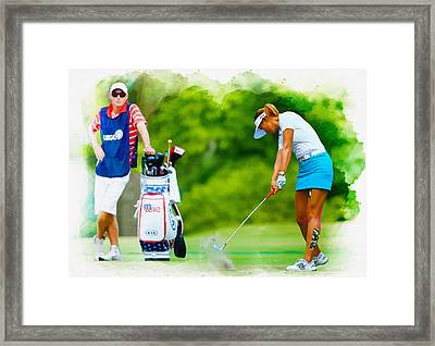 Michelle Wie - The 69th U.s. Women's Open  Framed Print by Don Kuing
