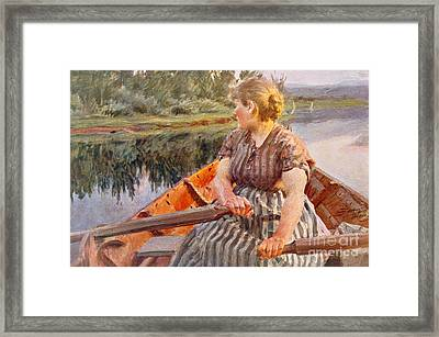 Midsummer Night Framed Print by Anders Leonard Zorn