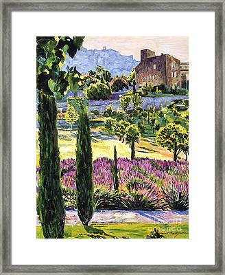 Midsummer's Eve In Provence Framed Print by David Lloyd Glover