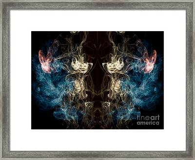 Minotaur Smoke Abstract Framed Print by Edward Fielding