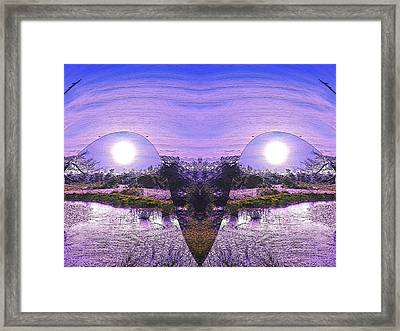Mirrored Ego Framed Print by Yolanda Raker