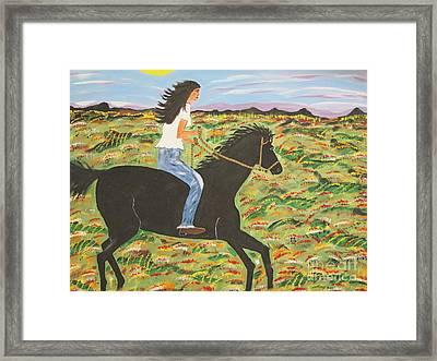 Morning Bareback Ride Framed Print