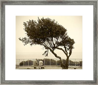 Morning Coffee Together Framed Print