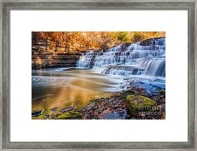Morning Light Upper Burgess Falls Framed Print