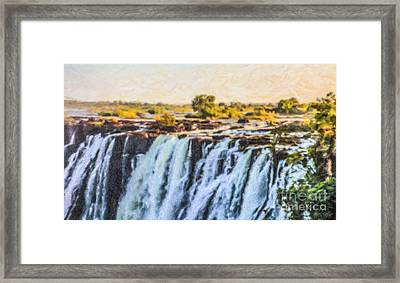 Mosi Oa Tunya Framed Print by Liz Leyden