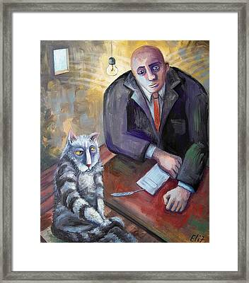 Mr Angel Sir Some Other Dude Done It Framed Print by Elisheva Nesis