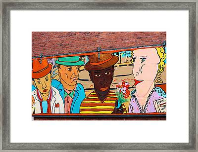 Mural Wall Art In Seattle Framed Print by Kym Backland