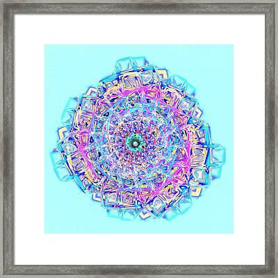 Murano Glass - Blue Framed Print by Anastasiya Malakhova