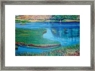 Framed Print featuring the painting  Myakka Sanctuary by Ecinja Art Works