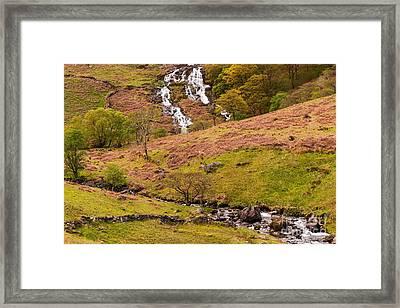 Nant Gwynant Waterfalls Iv Framed Print by Maciej Markiewicz
