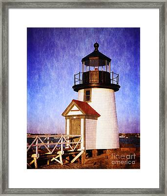 Nantucket Harbor Light House Framed Print by Heinz G Mielke