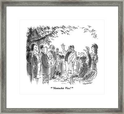 'nantucket Vice.' Framed Print