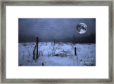 Native American Full Moon Treat The Earth Well Framed Print by John Stephens
