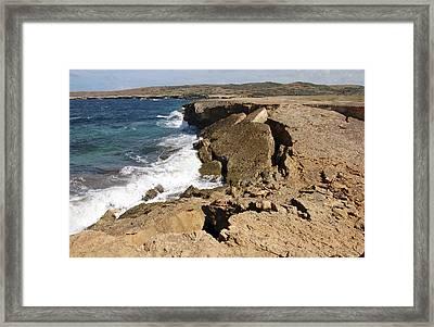 Natural Bridge Oranjestad Aruba Framed Print by Anonymous